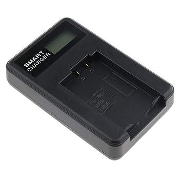 Baoblaze Cargador Doble USB con Pantalla LCD para Panasonic ...