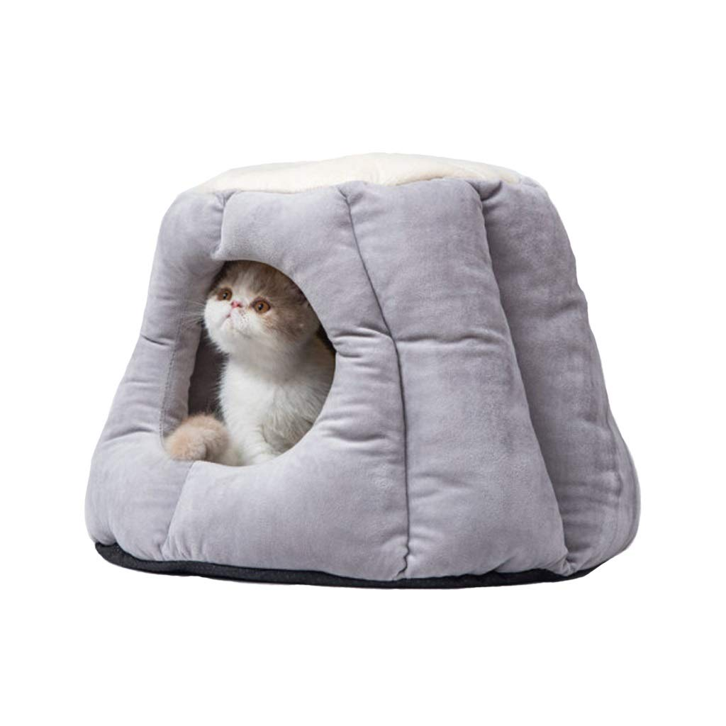 A SmallThickened Semienclosed Cat House,Soft Bed for Cats Or Small Dog,Multiple Sizes and colors Available,Breathable Pet Bed Premium (color   B, Size   M)