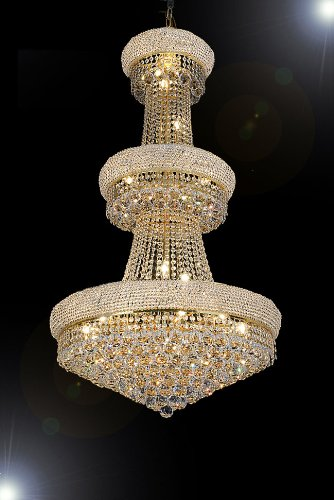 French Empire Crystal Chandelier Chandeliers H50″ X W30″ – Perfect for an Entryway or Foyer!
