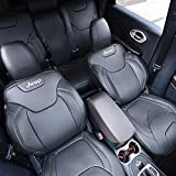 Kust zd31941w Car seat Covers,Full Hemming With Jeep Logo Custom Fit Seat Covers Fit for Jeep Cherokee 2014 2015 2016 2017,Leather Auto Seat Covers for SUV Full Set