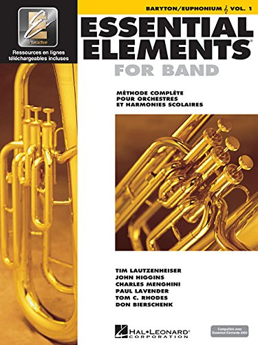 Essential Elements for Band avec EEi: Vol. 1 (French) - Baryton/Euphonium (Treble Clef)