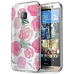 c0319 - cool fun cute love pink shabby chic flowers floral nature Design htc One M8 Fashion Trend CASE Gel Rubber Silicone All Edges Protection Case Cover
