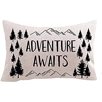 Nordic Adventure Awaits Mountain Pine Trees Cotton Linen Square Throw Waist Pillow Case Decorative Cushion Cover Pillowcase Sofa Lumbar 12