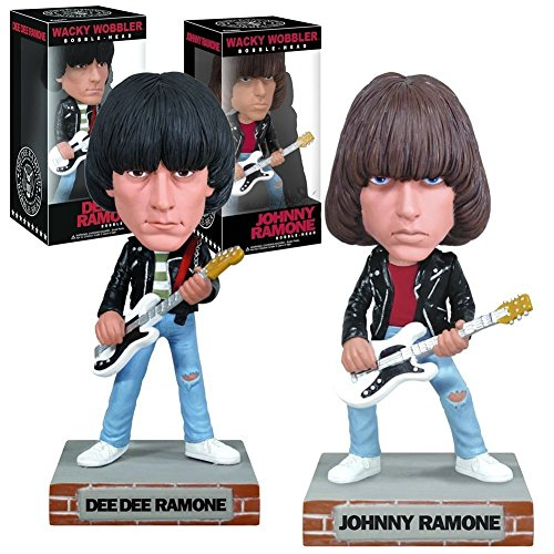 Ramones Collectibles: 2010 Funko Johnny Dee Dee Wacky Wobblers Set (C2)