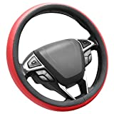 lexus steering wheel - SEG Direct Microfiber Leather Red Steering Wheel Cover Universally Fits 15 inches