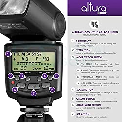 Altura Photo Professional Flash Kit For Nikon Dslr - Includes: I-ttl Flash (Ap-n1001), Wireless Flash Trigger Set & Accessories 10
