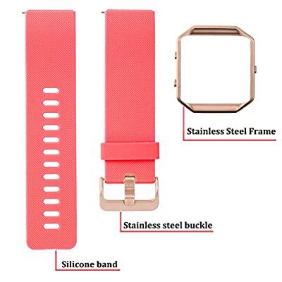 Austrake For Fitbit Blaze Bands Small Large, Classic Replacement Silicone Strap for Fitbit Blaze Watch Accessory for Women Men