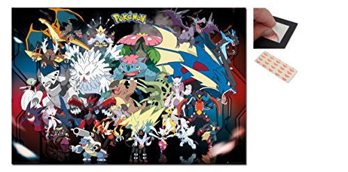 Bundle - 2 Items - Pokemon Mega Poster - 91.5 x 61cms  and a