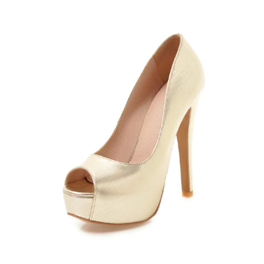 Ai Ya-liangxie Peep Toe Super High Heels Damen Pumps Plateauschuhe Hochzeit Schuhe Frau