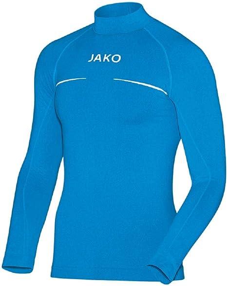 JAKO Camiseta de Cuello Alto Comfort, Otoño-Invierno, Unisex, Color Azul Claro, tamaño 116/128