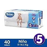 Huggies Pañal Desechable Ultraconfort para Niño, Etapa 5, 40 Cuentas