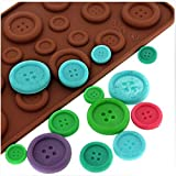 HuaYang Novel Fastener Button Design Cake Cookie Chocolate Silicone Gel Mold Mould Baking Tray(1Pcs: Random Color)