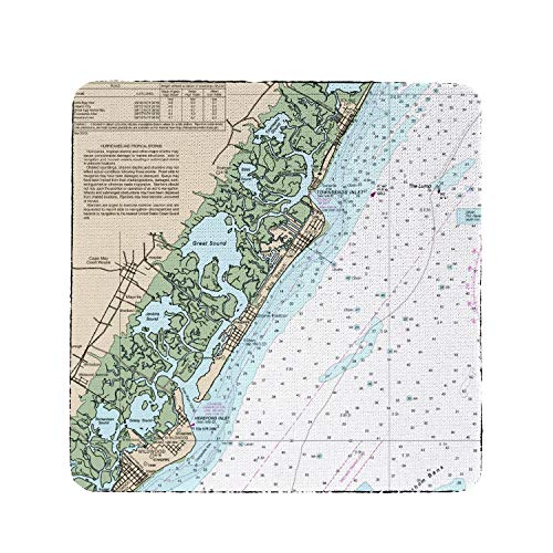 - Betsy Drake Little Egg to Hereford Avalon, NH Nautical Map Coaster Set of 4