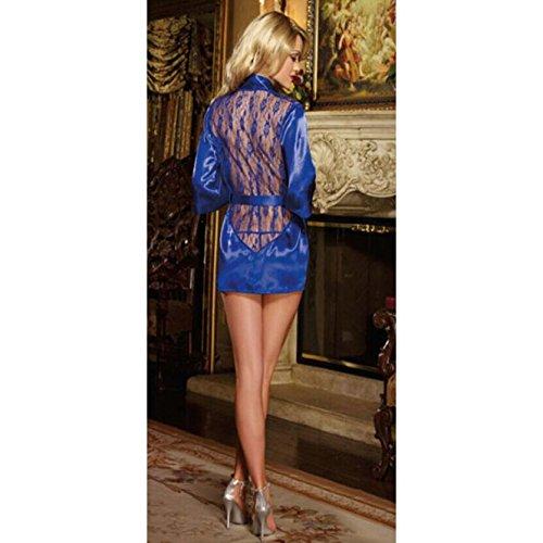 Accappatoio intima in Me retro VIOLA Donna VERDE BLU Biancheria Sexy Blu corto Fancy 8 pizzo UK RASO 20 PxCOff