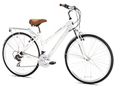 Northwoods Crosstown 21 speed Hybrid Bicycle is perfect for anyone looking for a dependable bicycle for commuting or recreational use. A hand crafted lightweight aluminum frame, 700c alloy rims, Shimano components and even a rear rack create ...