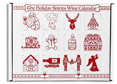 Advent Calendar for Alcohol & Adults | Gift Booze & Wine for Christmas 2019 | Great White Elephant & Holiday Party Hostess Present Idea | Alcohol Not Included (5, Wine) (Best Wine Gifts 2019)