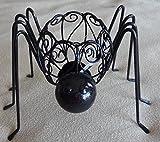 PAPYRUS Halloween Black Metal Spider Tea Light Candle Holder.