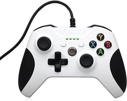 PYRUS Con conexión de Cable Gamepad Repuesto compatibles con conexión de Cable del Controlador Xbox One con Xbox One y PC con Windows: Amazon.es: Juguetes y juegos
