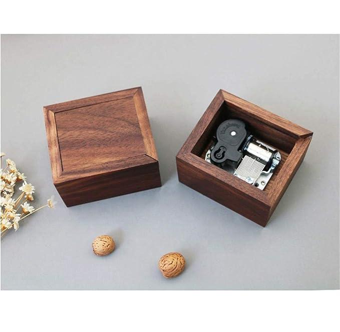 TXX Tira de pelo de madera maciza Pull-Style Music Box Mini caja ...