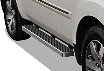 TAC Running Boards Fit 2016-2019 Honda Pilot SUV Aluminum Black Side Steps Nerf Bars Step Rails Truck Pickup Rock Panel Off Road Exterior Accessories 2 Pieces Running Boards