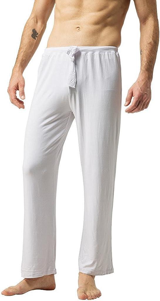 ZSHOW Pantalones Largos de Yoga para Hombres de Algodón: Amazon.es: Ropa y accesorios