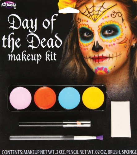 [Day Of The Dead Female Makeup Kit (colors may vary)] (Varys Halloween Costume)