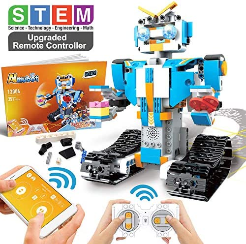 POKONBOY Building Blocks Robot Kit for KidsApp Controlled STEM Toys Science Engineering Kit DIY Building Robot Kit STEM Robotics for Teens Boys Girls to Build Age of 8-14(White)