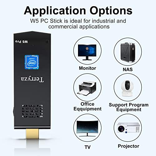 PC Stick 8GB DDR3/120GB ROM Intel Atom Z8350 Windows 10 Pro 64bit Mini Computer Stick, Support Auto-on After Power Failure, Dual Band WiFi 2.4/5G,4K HD, BT 4.2