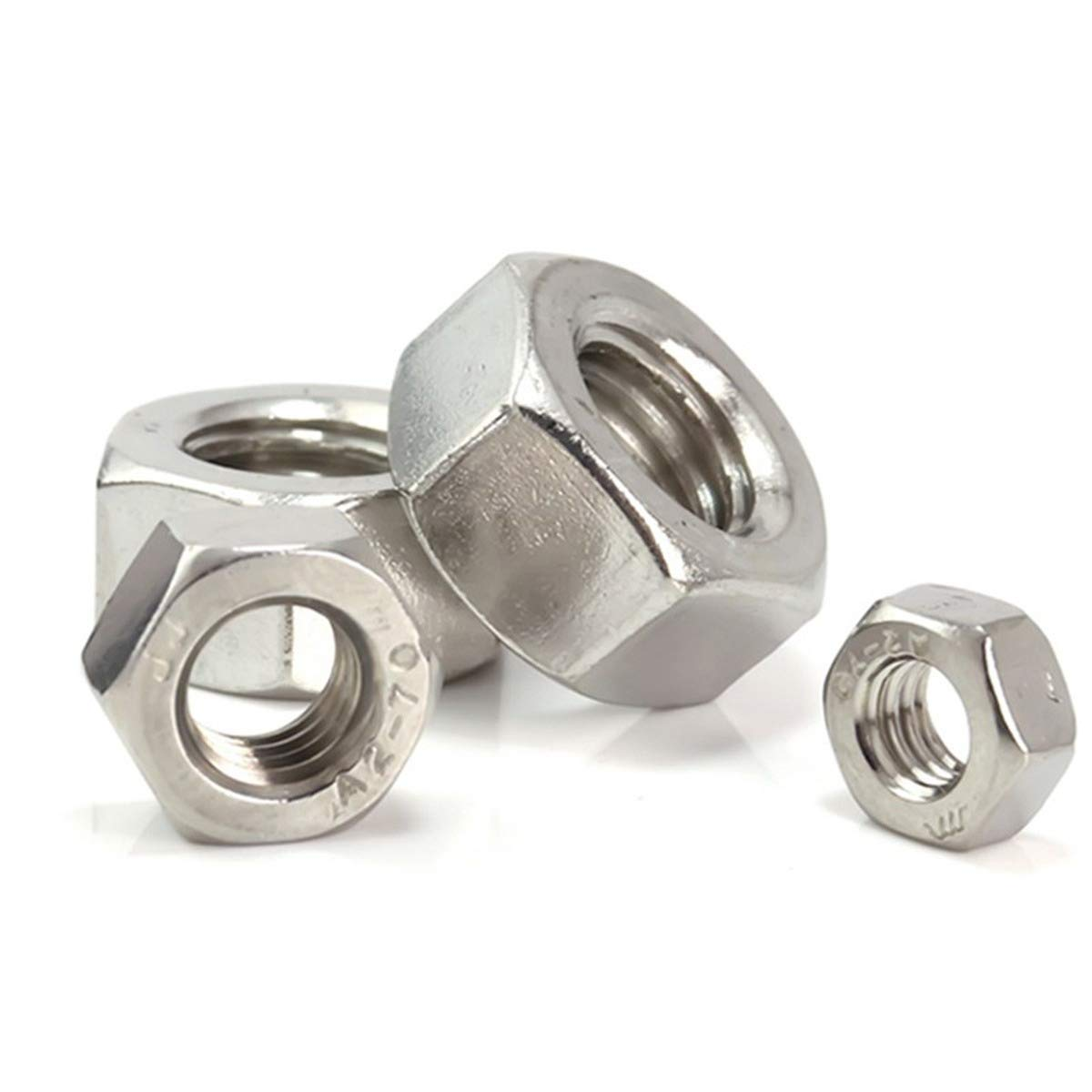 M3 200Pcs Luchang M2 M3 M4 304 Stainless Steel Hex Nut Hexagon Nuts Metric Thread Suit for Screws Bolts