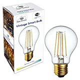 Smart WiFi Edison Retro Filament Vintage Dimmable Bulb - Works with Alexa, Google Home & IFTTT - Warm/Cool White (2200-6500k) - A60 with E27 Fitting - Includes B22 to E27 Adapter - 7W LED (Pack of 1)