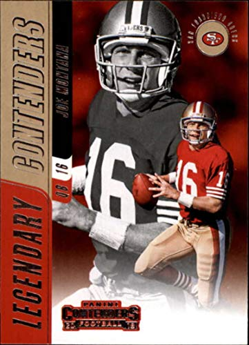 Football NFL 2018 Panini Contenders Legendary Contenders #LC-JM Joe Montana #LC-JM NM+ 49ers (Joe Montana Football Trading Card)