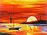 Golden Gate Bridge by the Sunset is a ONE-OF-A-KIND, ORIGINAL OIL PAINTING ON CANVAS by Leonid AFREMOV …