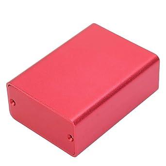 Instrumento de placa de circuito rojo esmerilado Caja de enfriamiento de aluminio Cajas de terminales de montaje empotrado Caso de caja de proyecto electrónico DIY: Amazon.es: Industria, empresas y ciencia
