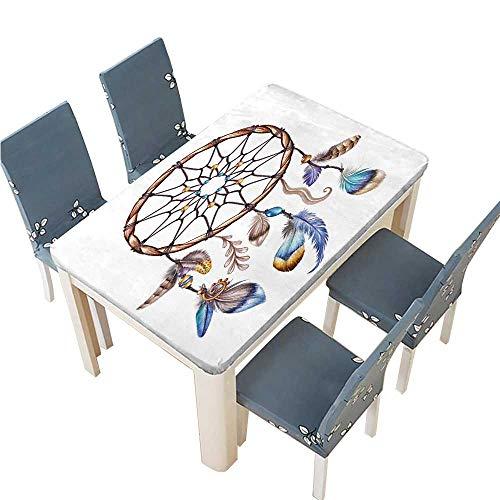 PINAFORE Jacquard Polyester Fabric Tablecloth Watercolor Illustration Boho