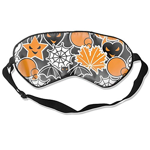 Eye Mask for Sleeping, Halloween Pumpkin Background 3D Eye Mask Shade Cover Rest Sleep Eyepatch Blindfold Shield Travel Sleeping Aid -