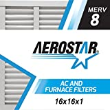 16x16x1 AC and Furnace Air Filter by Aerostar - MERV 8, Box of 6