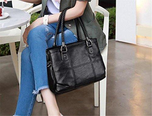 trasversale di di borsa della di Donna spalla black La obliqua lavora cucire acquisto semplice cuoio modo del moda NVBAO colori quattro singola black Spalla I88Tq