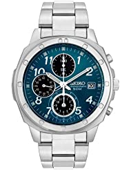 Seiko Mens SND193 Stainless Steel Chronograph Watch
