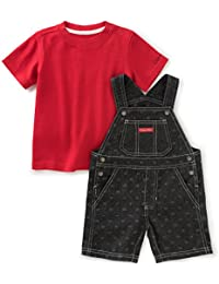 Calvin Klein Baby Boys' 2 Pieces Shortall-Trim on Tee