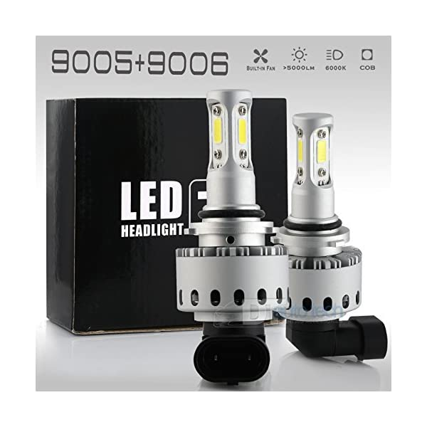 90059006 Combo 200W 20000LM LED Headlight Kit High Low Beam Light Bulbs 3 Year Warranty