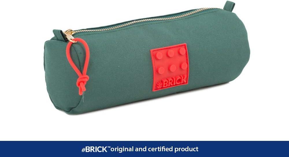 Astuccio #Brick verde scuro e rosso