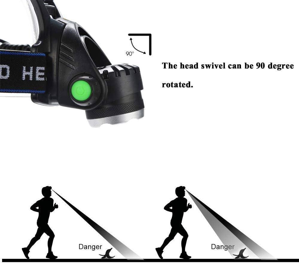 Linterna Frontal LED con Luz Roja L/ámpara de Cabeza con Zoom USB Recargable de 600 L/úmenes Sensor de Movimiento Impermeable Faro con Bater/ías para Visi/ón Nocturna Caza Camping Observaci/ón