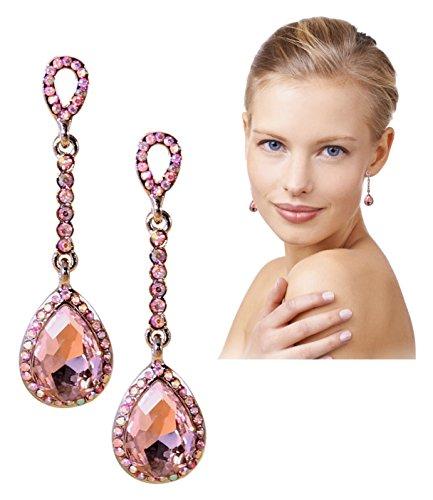 Pink Crystal Earrings 2