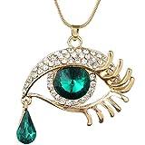 Magic Eye Crystal Teardrop Eyelash Necklace