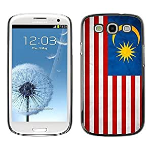 Shell-Star ( National Flag Series-Malaysia ) Snap On Hard Protective Case For Samsung Galaxy S3 III / i9300 i717