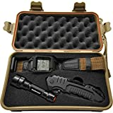 Humvee HMV-RCN-RM1 Recon Mission Kit with Digital Watch, Knife and Tactical LED Flashlight, Black and Tan