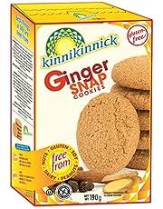 Kinnikinnick Foods Gluten Free Ginger Snap Cookies, 190 Grams