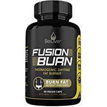 Fusion Burn Garcinia Cambogia Thermogenic Weight Loss Pills for All Body Types - Green Tea Extract, Green Coffee Bean, Raspberry Ketones - Fat Burner Pills for Women and Men - 60 Caps
