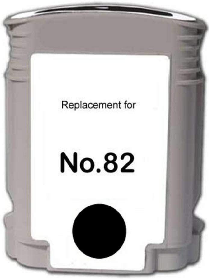 CH565A WORLDS OF CARTRIDGES Remanufactured Ink Cartridge Replacement for HP 82 Black for Use in HP DesignJet 500//510 // 815//820 // CC800PS /& DeskJet 800