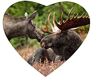 Alaskan Moose Pair Mouse Pad Desktop Laptop Mousepads Comfortable Office Mat Cute Gaming Mouse Pad by runtopwell